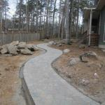 PAVER WALKWAY IN PROGRESS